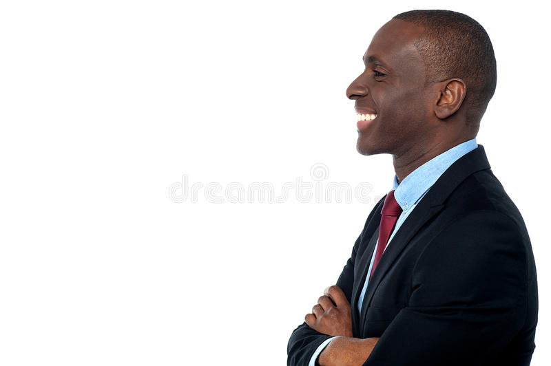 Handsome young african businessman royalty free stock photography