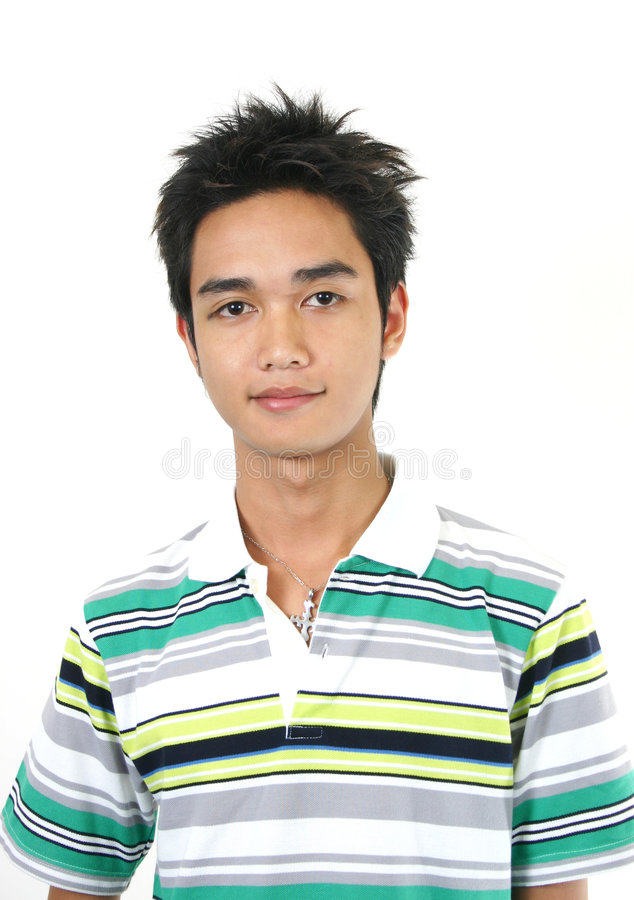 Handsome young asian guy 4 royalty free stock photo