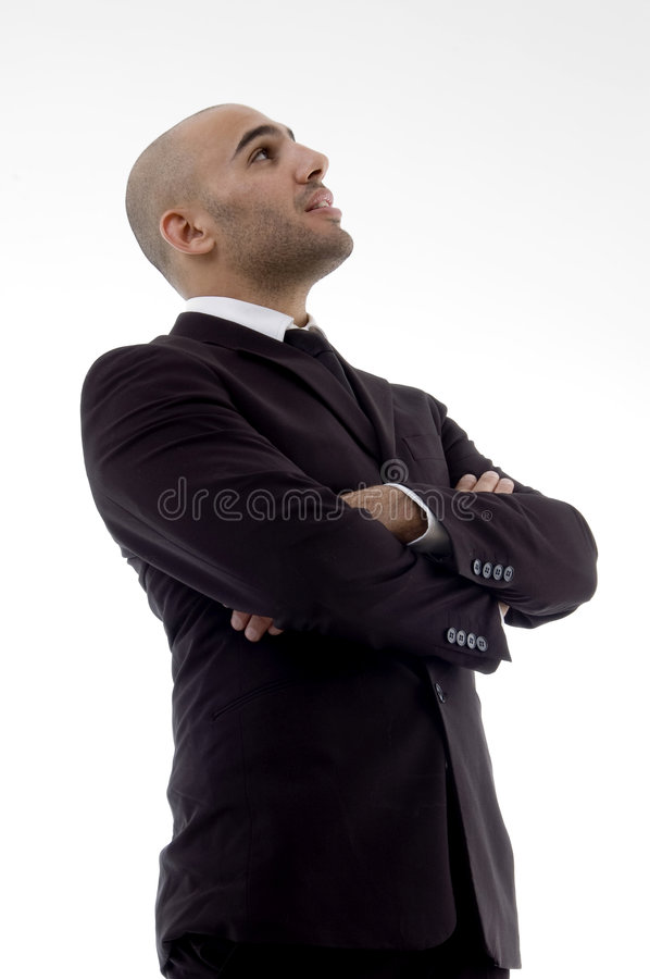 Handsome young attorney royalty free stock photo