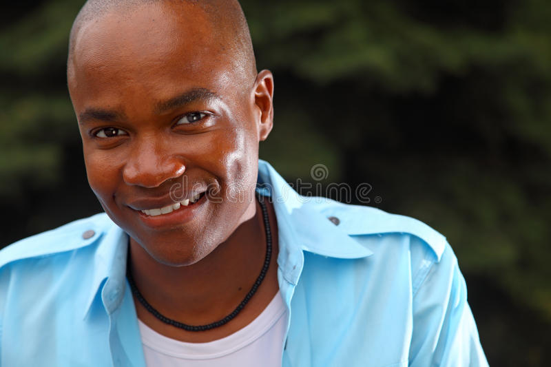 Handsome young black man stock image