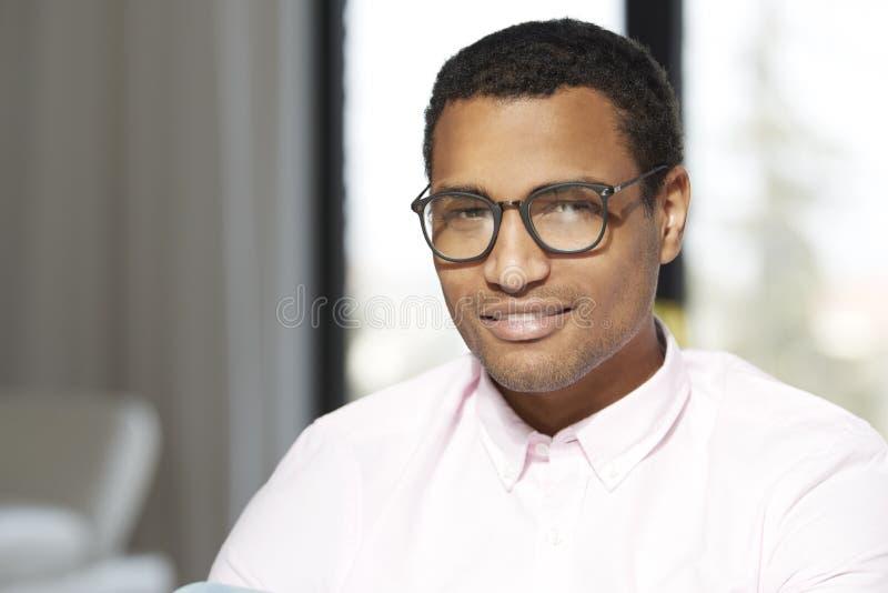 Handsome young black man portrait stock photo