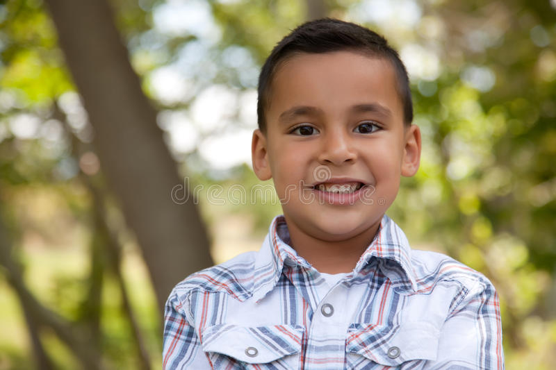 Handsome Young Boy in the Park royalty free stock photo
