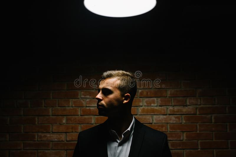 Download Stylish Young Man In Suit And Tie. Business Style. Fashionable I Stock Photo - Image of hair, handsome: 108834046