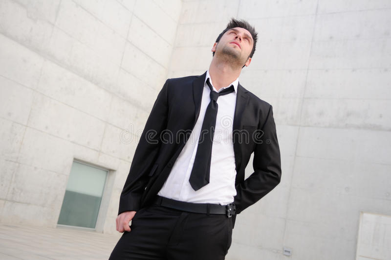 Handsome young business man stock image