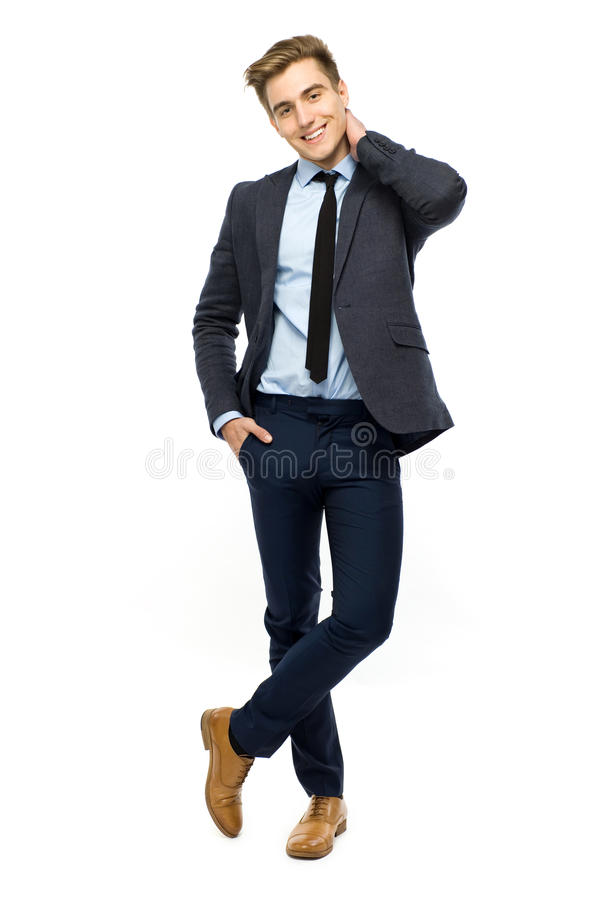 Handsome Young Businessman Royalty Free Stock Image