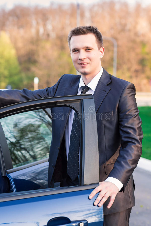 Free Handsome Young Businessman Near His New Car Stock Images - 30769754