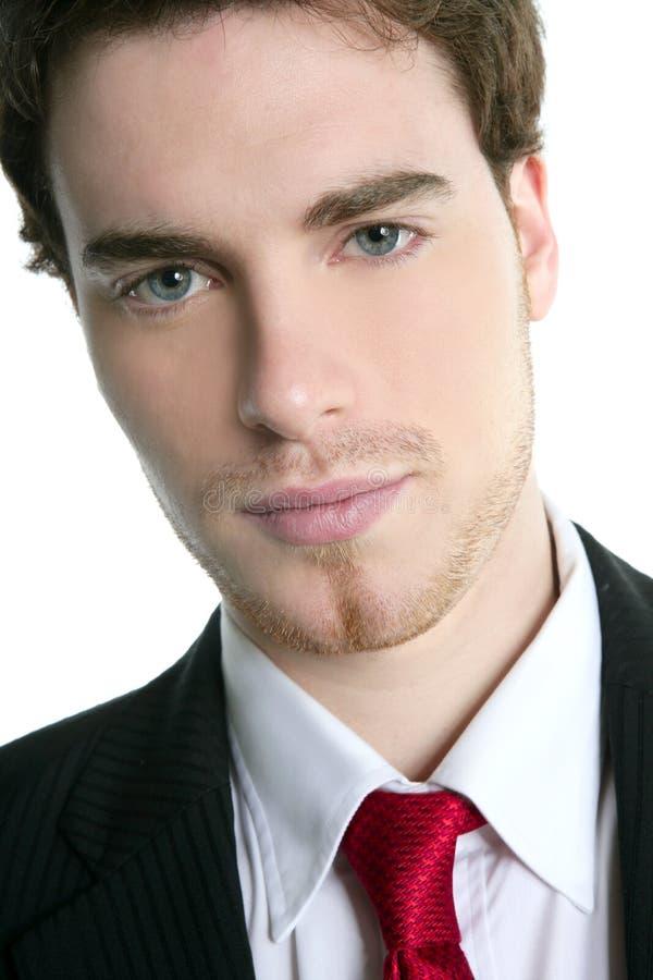 Handsome young businessman portrait tie suit royalty free stock images