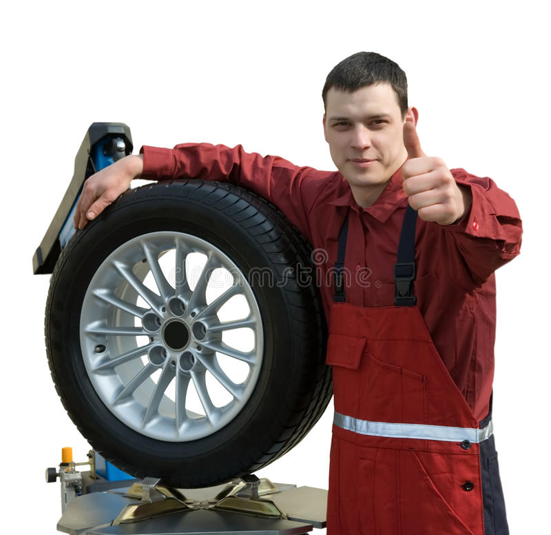 Free Handsome Young Car Mechanic Stock Image - 14036531