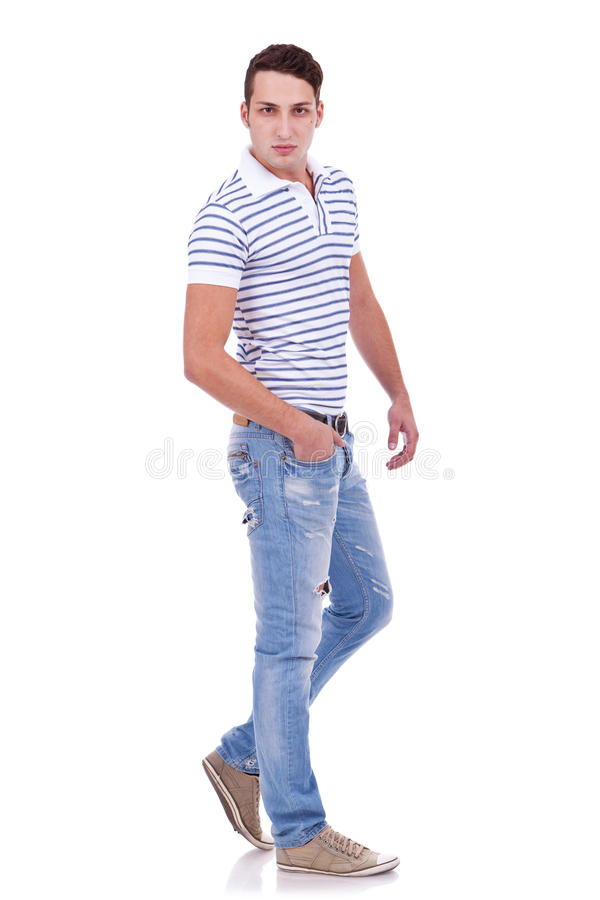 Handsome young casual man stock images