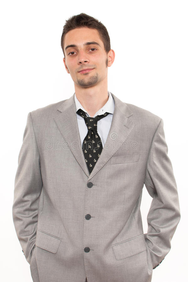 Handsome young caucasian businessman stock photos