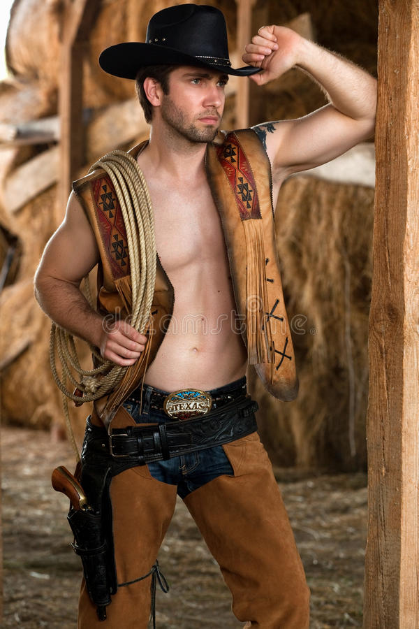 Download Handsome young cowboy stock photo. Image of barn, outlaw - 20636162
