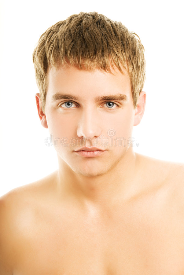 Download Handsome young man stock photo. Image of lips, bones, close - 6046808