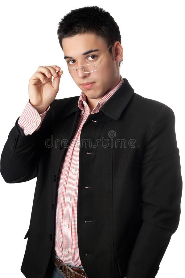 Download Handsome Young Man In A Black Jacket Royalty Free Stock Photography - Image: 15390727