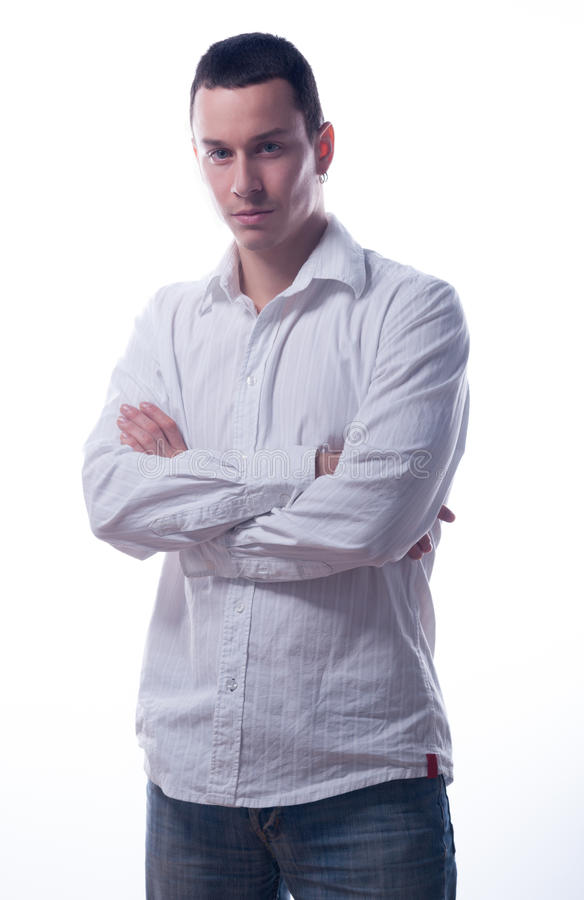 Download Handsome Young Man With Crossed Arms Stock Image - Image: 28471829