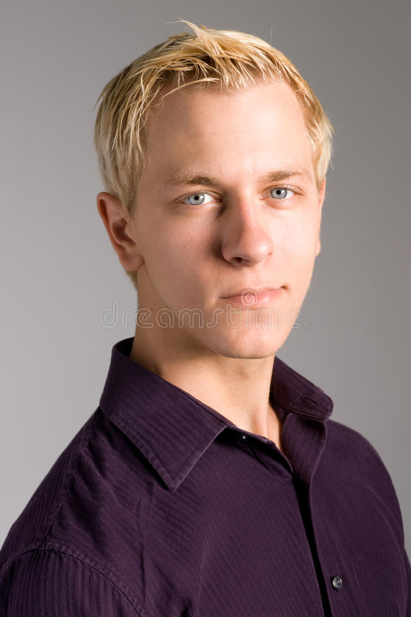 Handsome young man portrait stock images