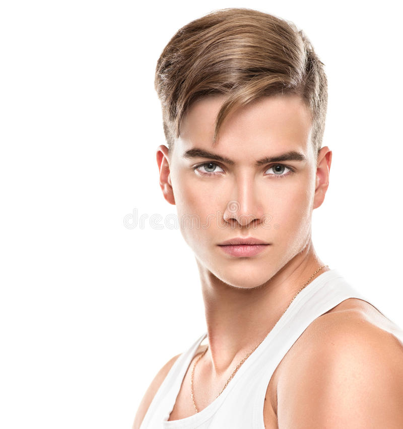 Handsome young man portrait royalty free stock photo