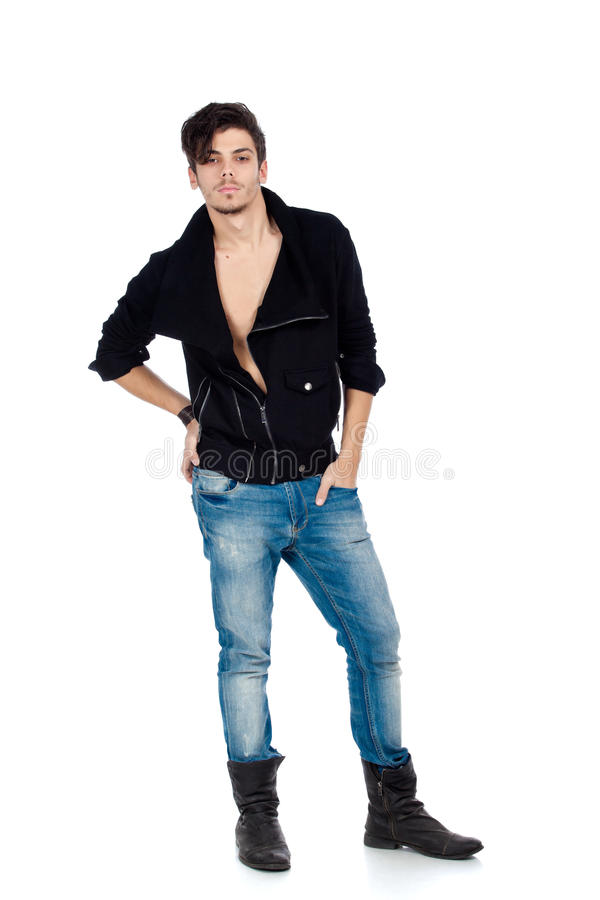 Download Handsome young man posing stock image. Image of person - 23141235