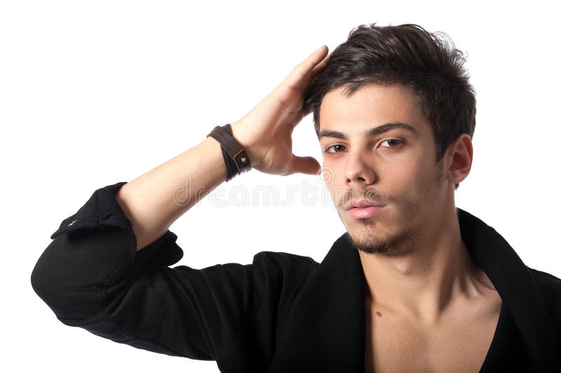 Download Handsome young man posing stock image. Image of positive - 23141285