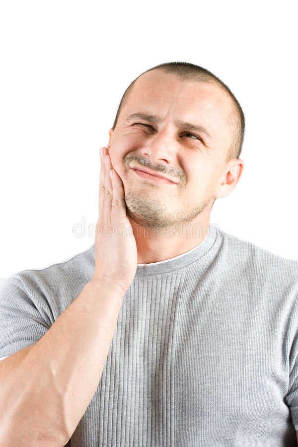 Handsome Young Man Scratching His Beard Royalty Free Stock Image