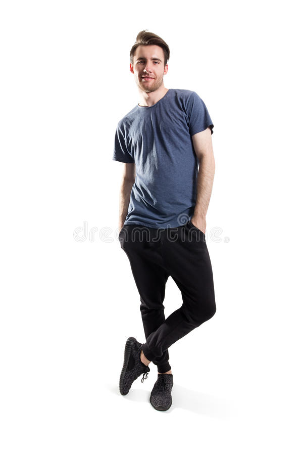 Handsome young man standing royalty free stock photos