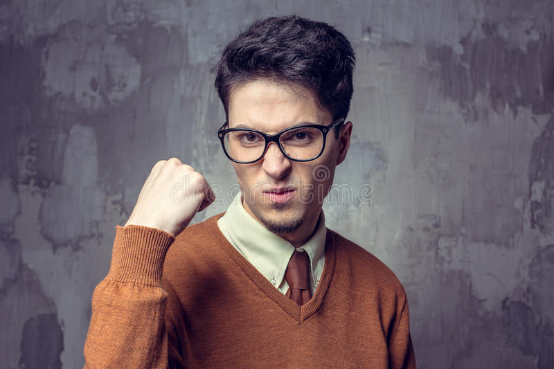 Handsome young man, student stock images