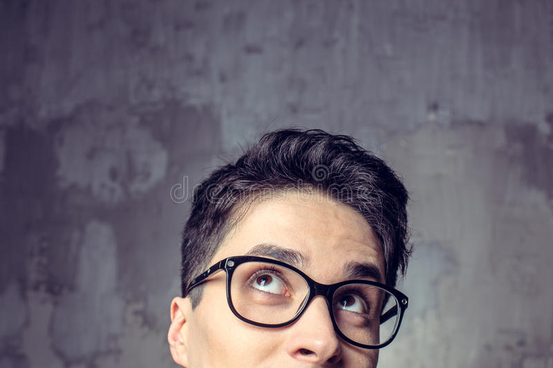 Handsome young man, student royalty free stock image