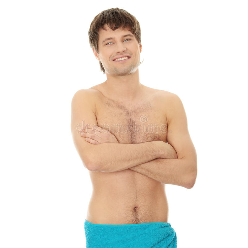 Download Handsome Young Man With The Towel Stock Image - Image: 17081689