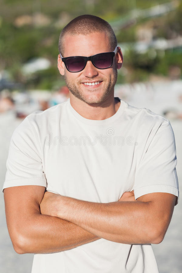 Download Handsome Young Man Wearing Sunglasses Stock Image - Image: 33280009