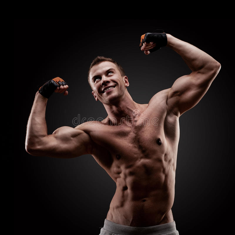 Handsome Young Muscular Sports Man Royalty Free Stock Image