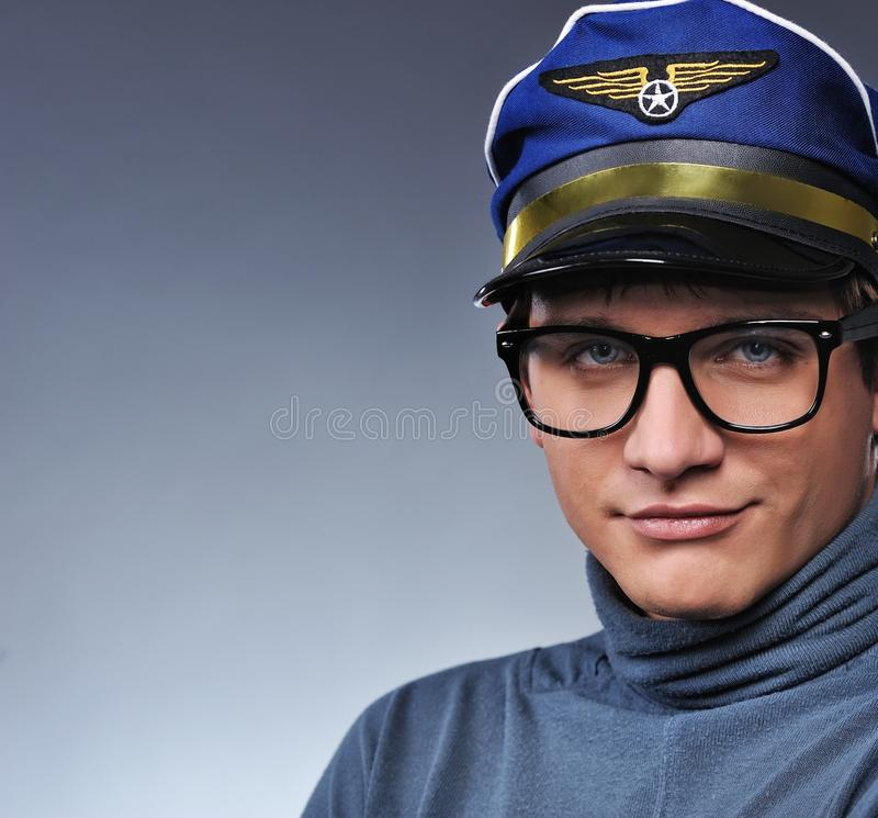 Download Handsome young pilot stock image. Image of worker, pilot - 13053363