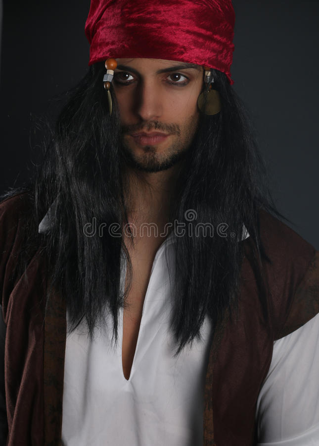 Handsome young pirate stock photos