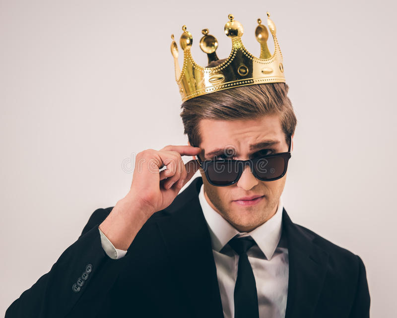 Handsome young prince royalty free stock photo