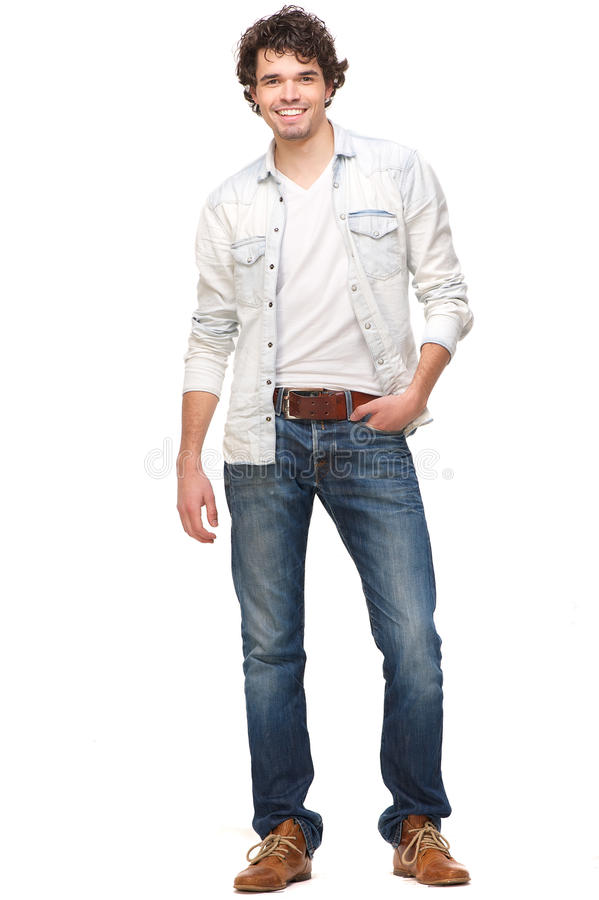 Handsome Young Smiling Male stock image