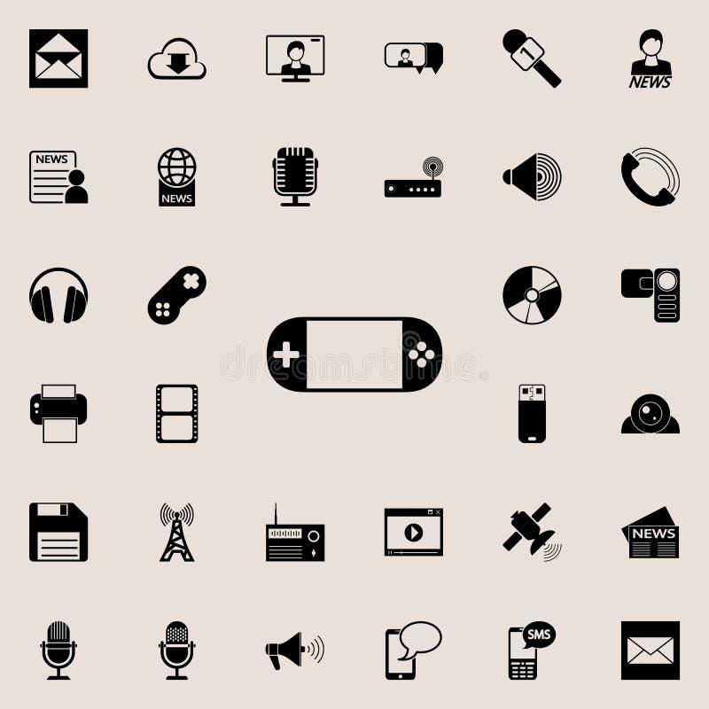 Handspielkonsolenikone Ausführlicher Satz minimalistic Ikonen Erstklassiges Grafikdesign Eine der Sammlungsikonen für Website, stock abbildung