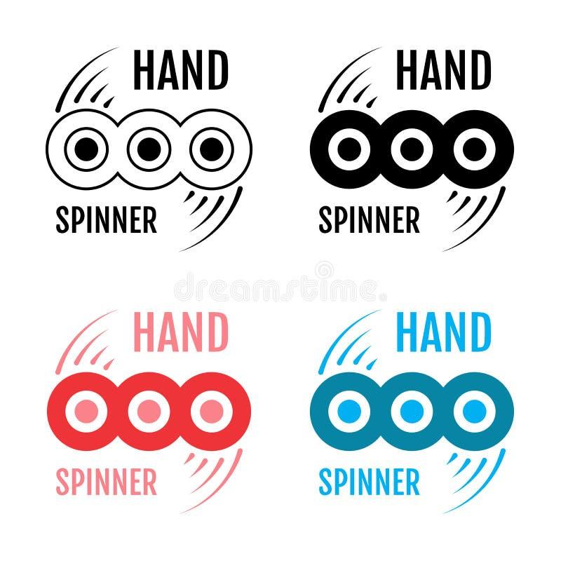 Handspinner oder Unruheikone vektor abbildung