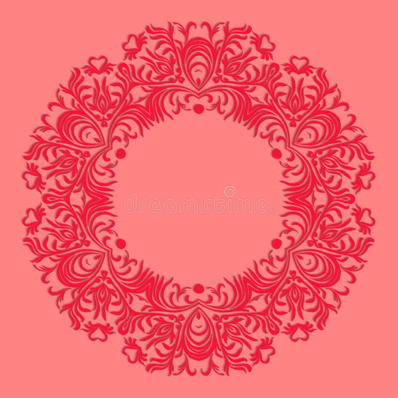 Handspitze Serviette Schöne elegante Weinlese gestrickte Spitzen- Serviette Tischschmuck oder Hochzeitseinladung Rundes Spitzemus vektor abbildung