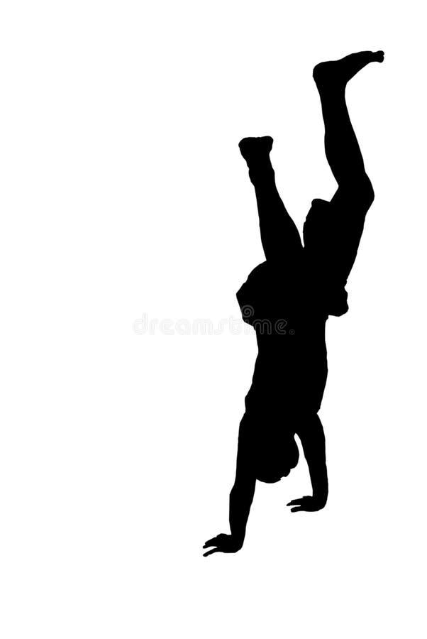 handstand σκιαγραφία ελεύθερη απεικόνιση δικαιώματος