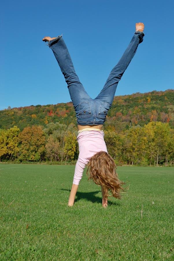 Handstand lizenzfreies stockfoto