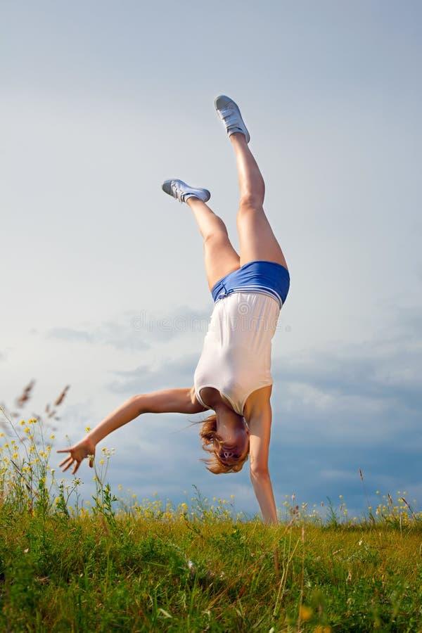 handstand стоковое фото