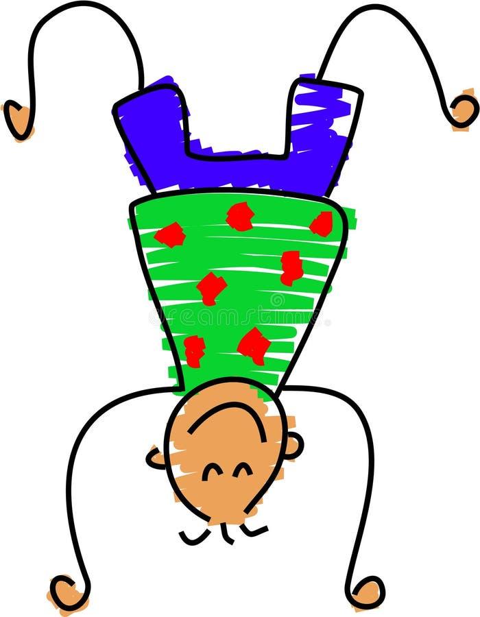 Handstand stock de ilustración