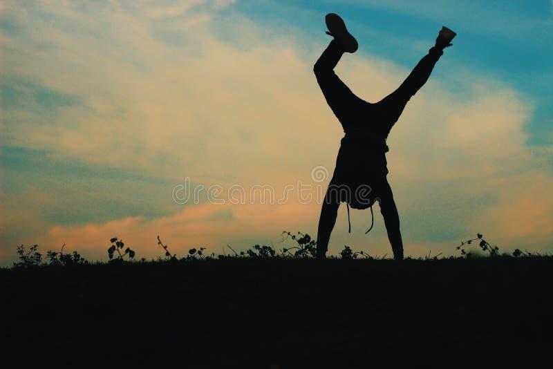 handstand obraz royalty free