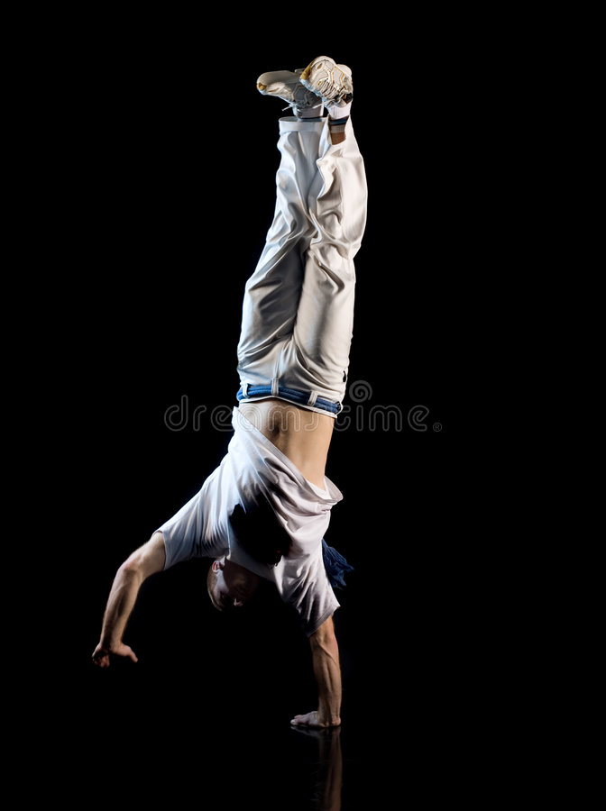 Handstand del hombre foto de archivo libre de regalías