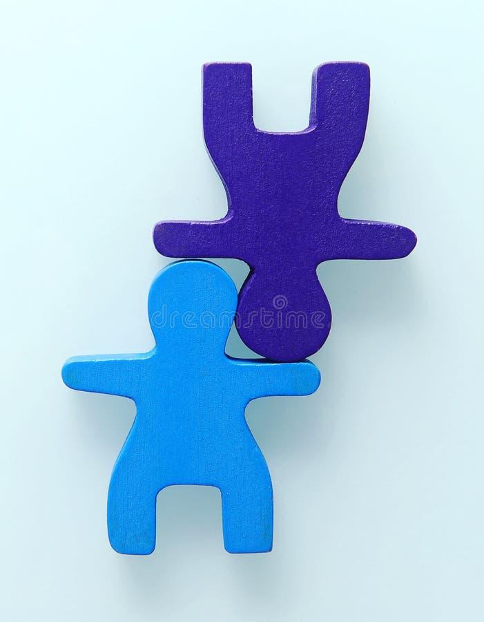 Handstand zwei Leute lizenzfreies stockbild