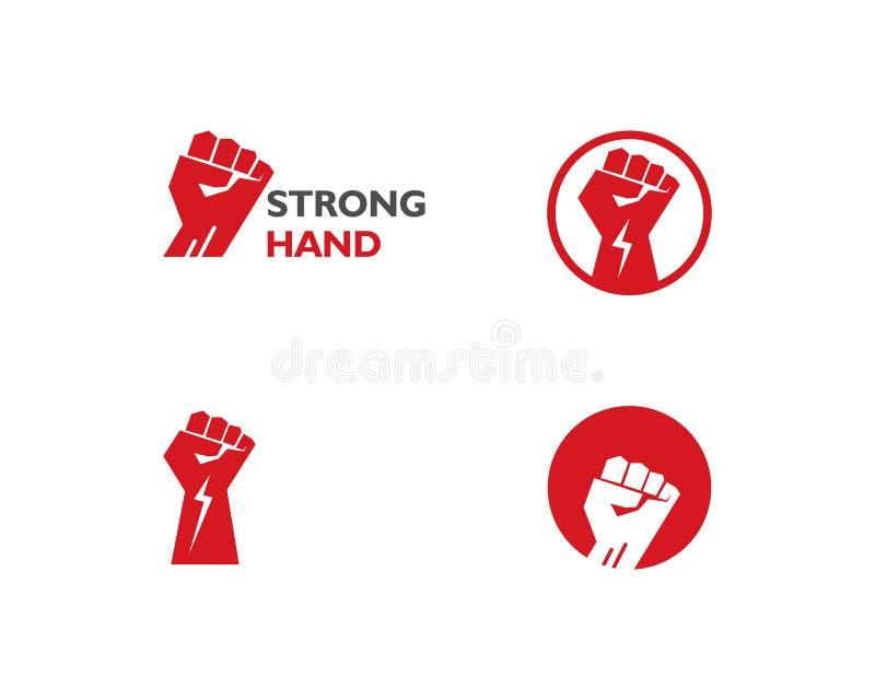 Handstarkes Logo lizenzfreie abbildung