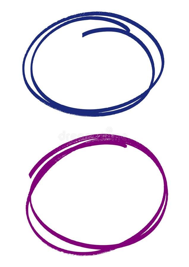 handstrokecirklar royaltyfri illustrationer