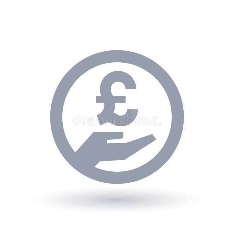 Handsymbol för brittiskt pund - symbol för Britannien valutalön royaltyfri illustrationer