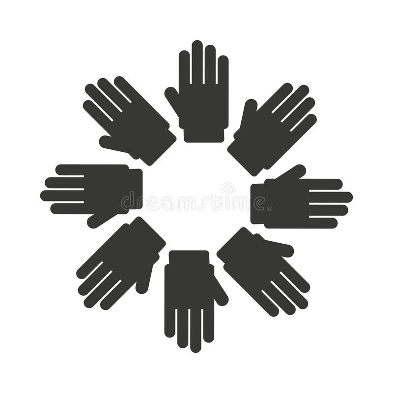 Handsymbolverschiedenartigkeit lokalisierte Ikonendesign vektor abbildung