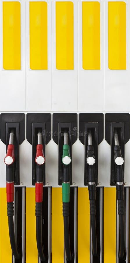 Handtag för utfyllnadsgods för gaspump royaltyfria foton