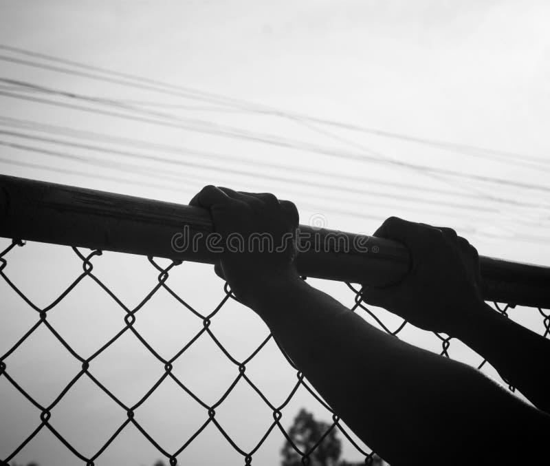 Handtagstaket arkivfoton