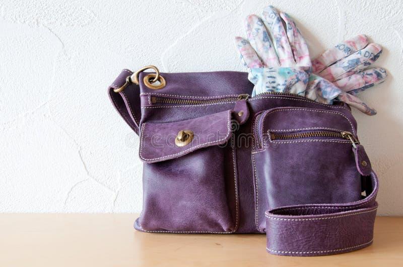 Handtas en Handschoenen royalty-vrije stock afbeelding